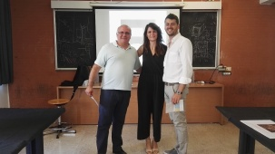 da sinistra, Raimondo Consolante, Francesca Addario, Mirko Russo