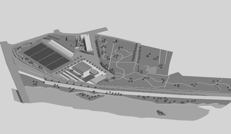 2010 - Piano progetto per area sportivo residenziale Palaparente lungo il fiume Calore